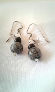 Close-up shot of the Snowdrop earrings.