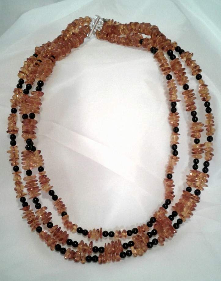 Full frontal shot of the Queen Bee necklace.