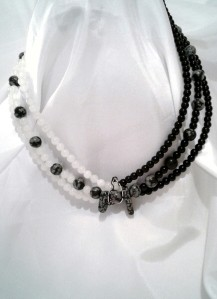 Shot of the Chiascuro necklace as modeled.